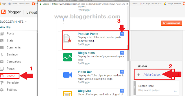 Popular Post Widget In Blogger
