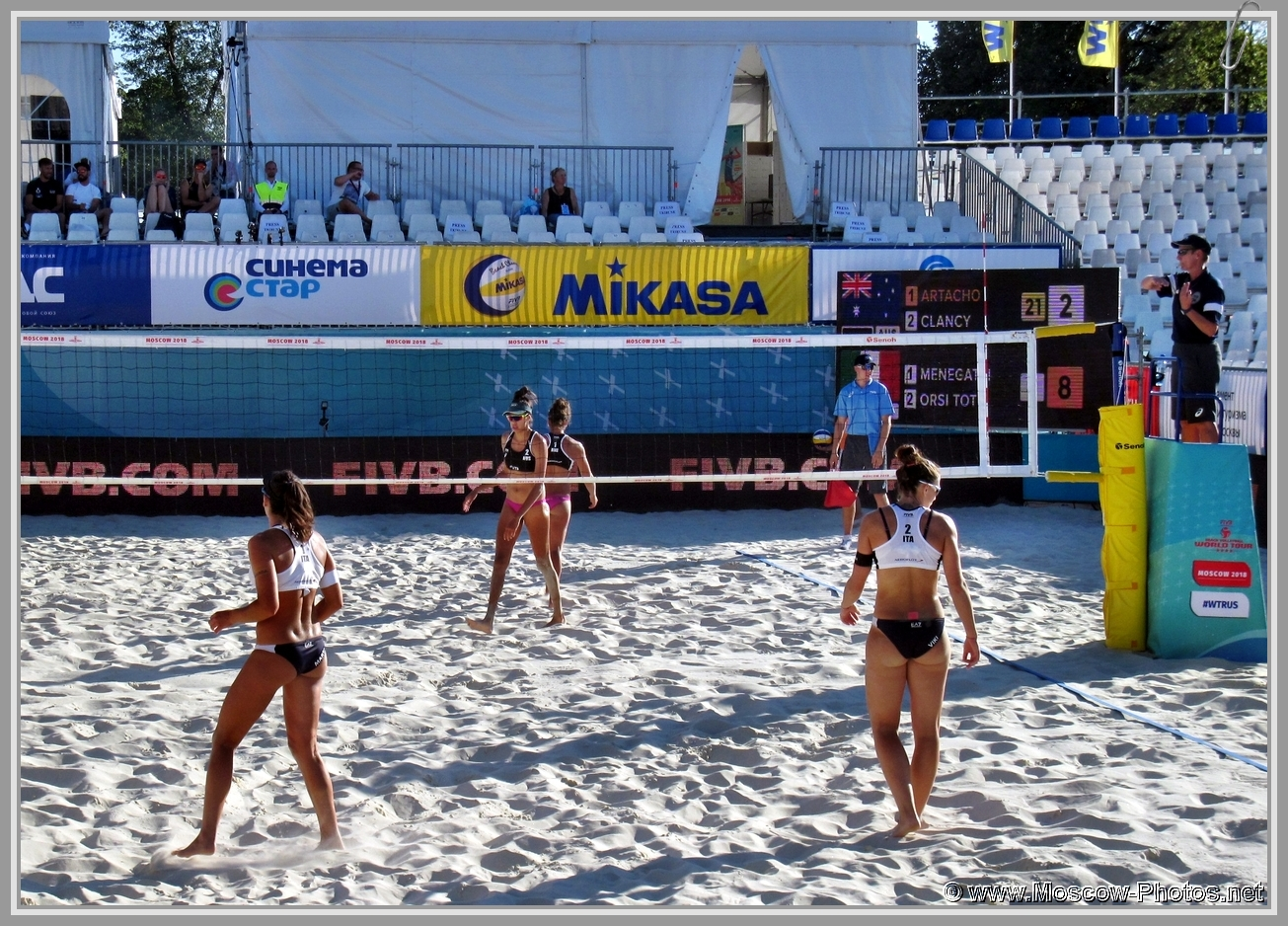 Marta Menegatti and Viktoria Orsi Toth - Italian Team at FIVB Beach Volleyball World Tour  2018