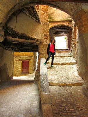 Pueblo medieval de Ager en Catalunya