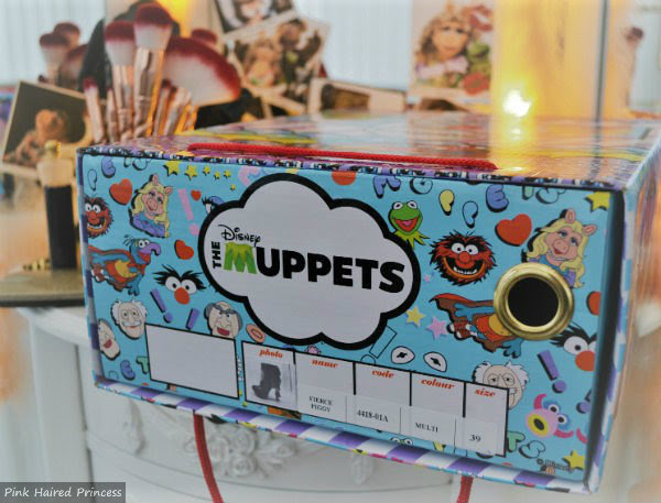 drawer style front of Muppets shoe box