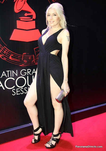 Militta Bora en la red carpet de Latin Grammy Acoustic Sessions