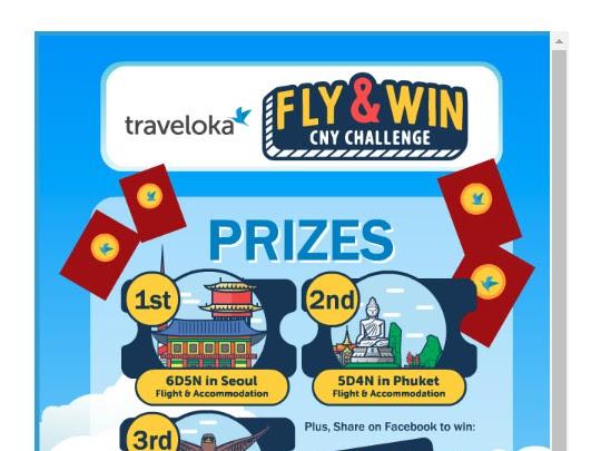 Traveloka Fly & Win CNY Contest - hadiah anniversary ke 5