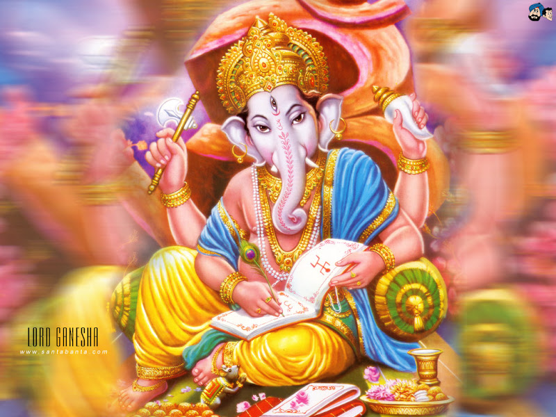 Hindu God Ganesh Desktop Wallpapers Free Download title=