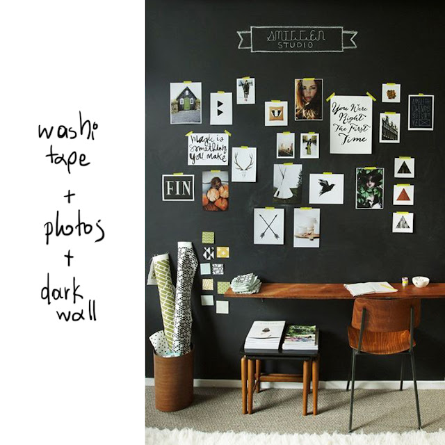 dark office wall photo gallery • the round button blog