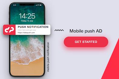 DatsPush Ad Network Dapat Uang Hanya dengan Notifikasi