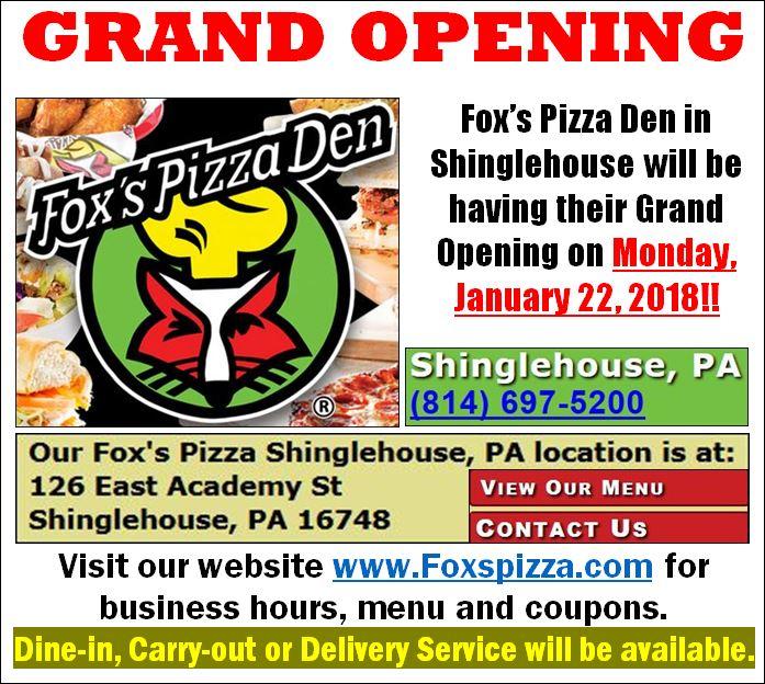 http://www.foxspizza.com/locations/pa/shinglehouse/shinglehouse-pa-355/index.html