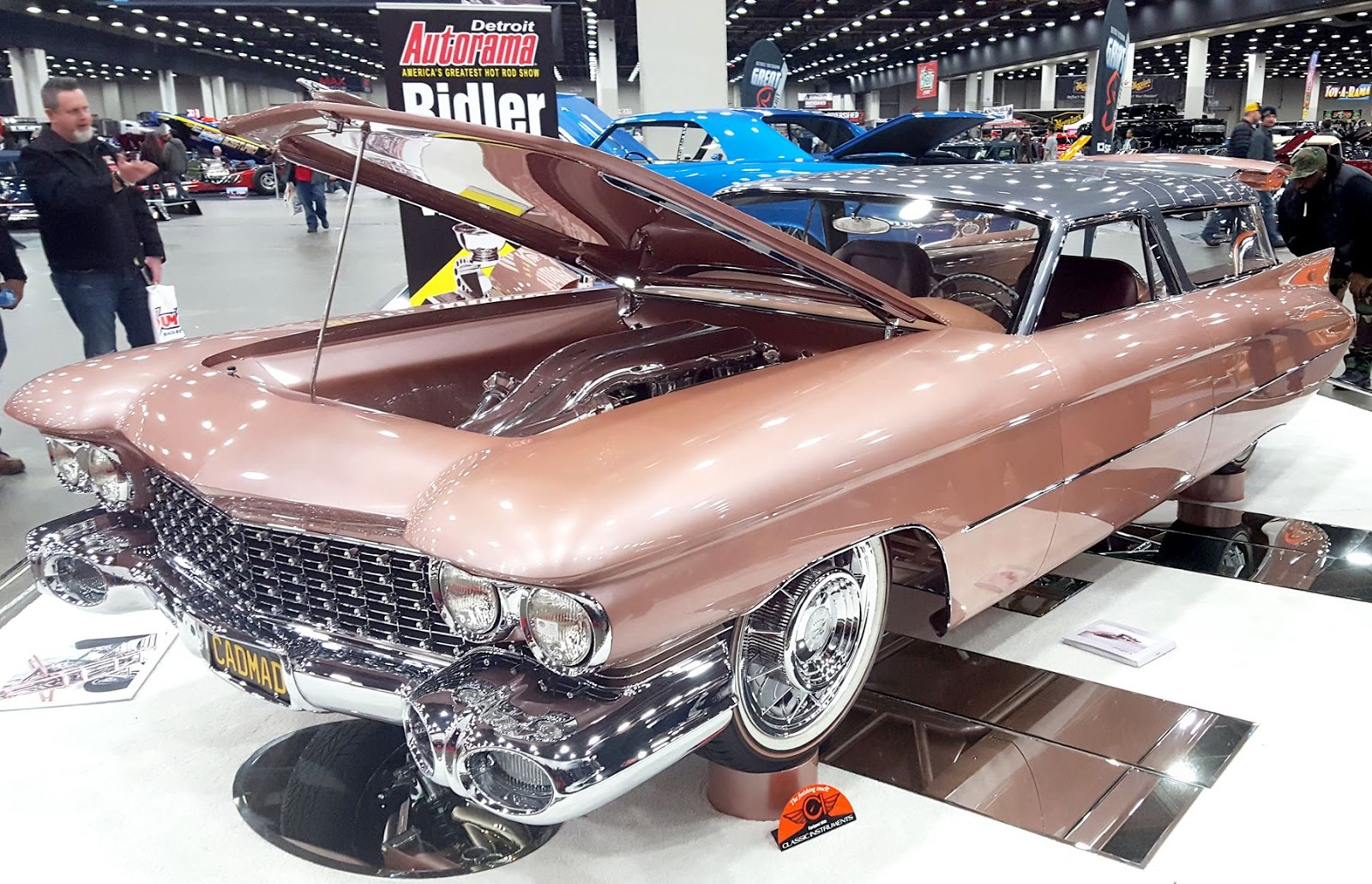 f6c3a30a7b2 Built by Super Rides by Jordan in Escondido, California, the starting point  was a 1959 Cadillac Eldorado Brougham, a no-expense-spared luxury sedan  with a ...