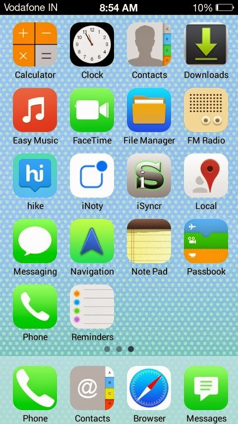iPhone 5 (S) ROM for Micromax A76/A74