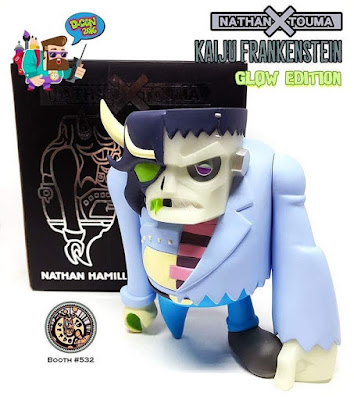 Designer Con 2016 Kaiju Frankenstein Glow in the Dark Edition Vinyl Figure by Touma x Nathan Hamill x 3D Retro