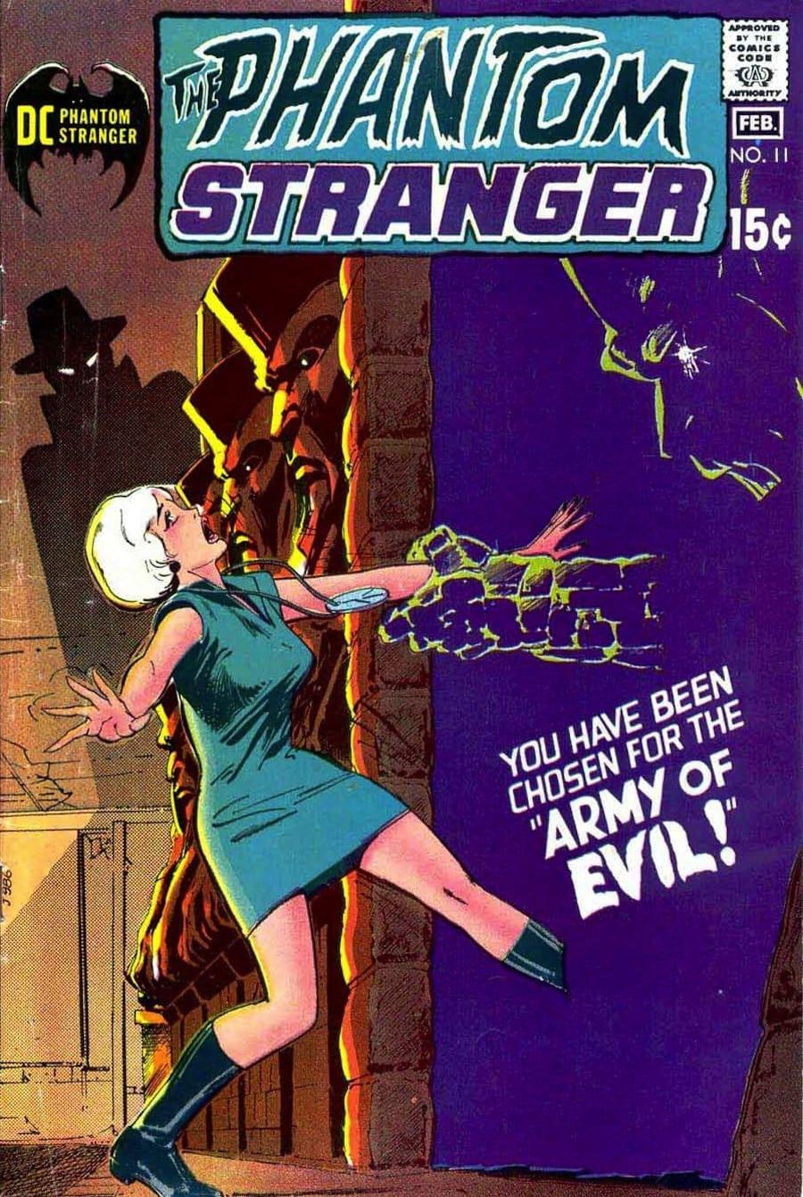 Phantom Stranger #11 - 1970s dc horror comic book cover art by Neal Adams