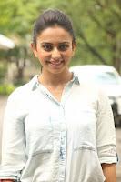 Rakul Preet Singh in Jeans and White Shirt At Jaya Janaki Nayaka le Logo Launch ~  Exclusive 057.JPG