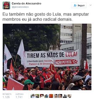 Erro em faixa pró-Lula vira piada nas redes sociais