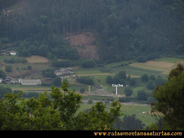 Ruta Hoces del Esva: Vista del Centro de Interpretación de Longrey