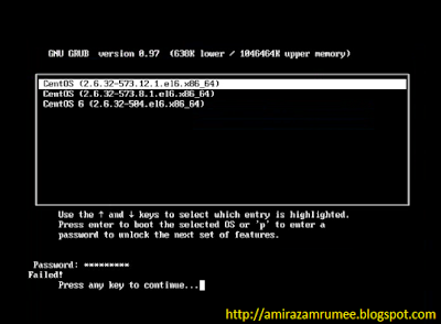 How to reset/recover/break linux Grub Boot Loader Password