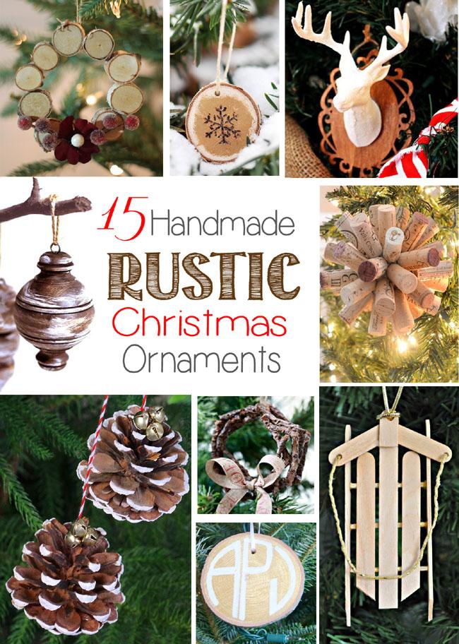 15 Handmade Rustic Christmas Ornaments - Remodelando la Casa