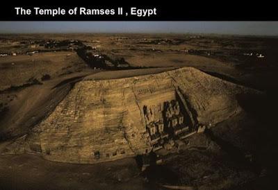 El templo de Ramses II Egipto