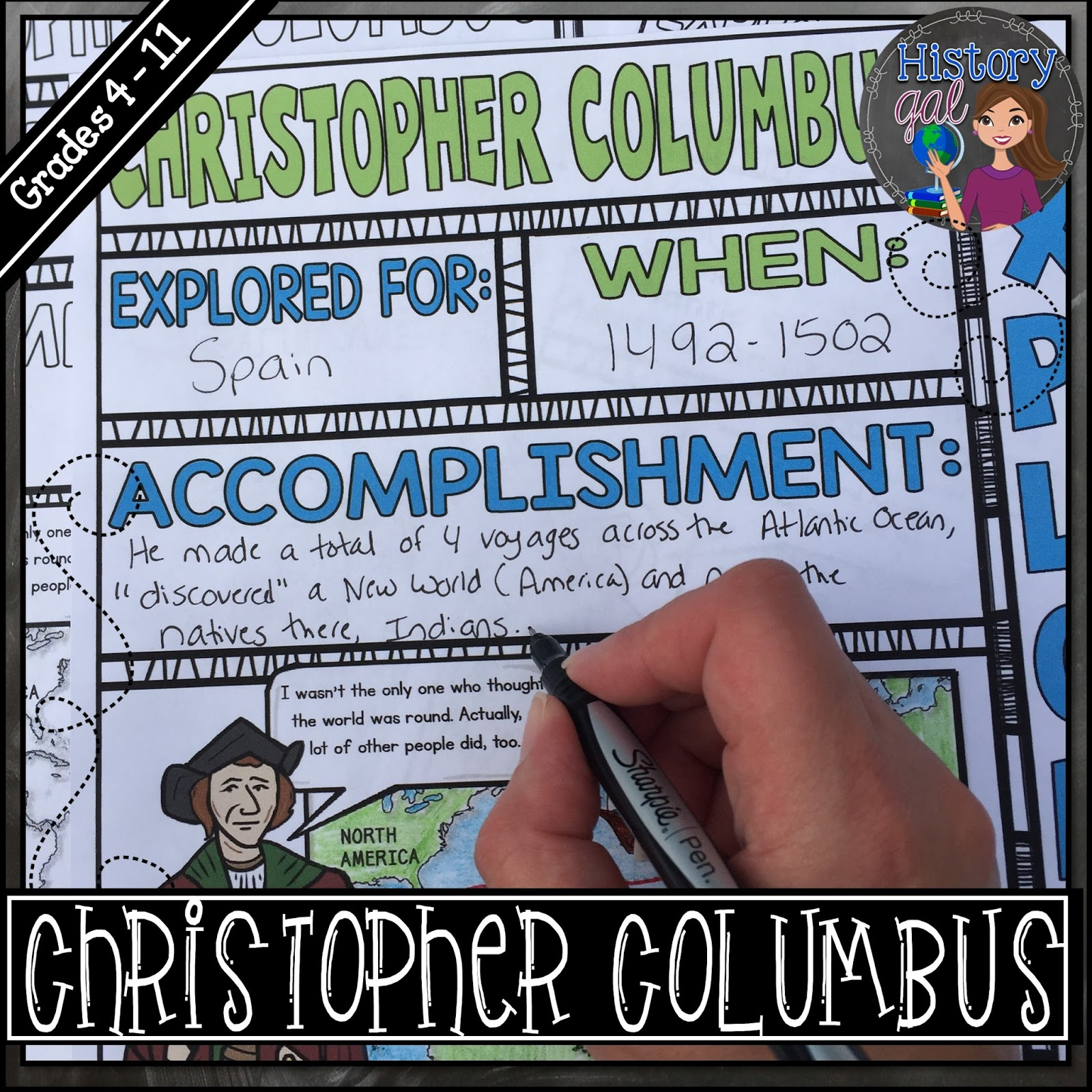 An engaging way to teach Christopher Columbus by History Gal