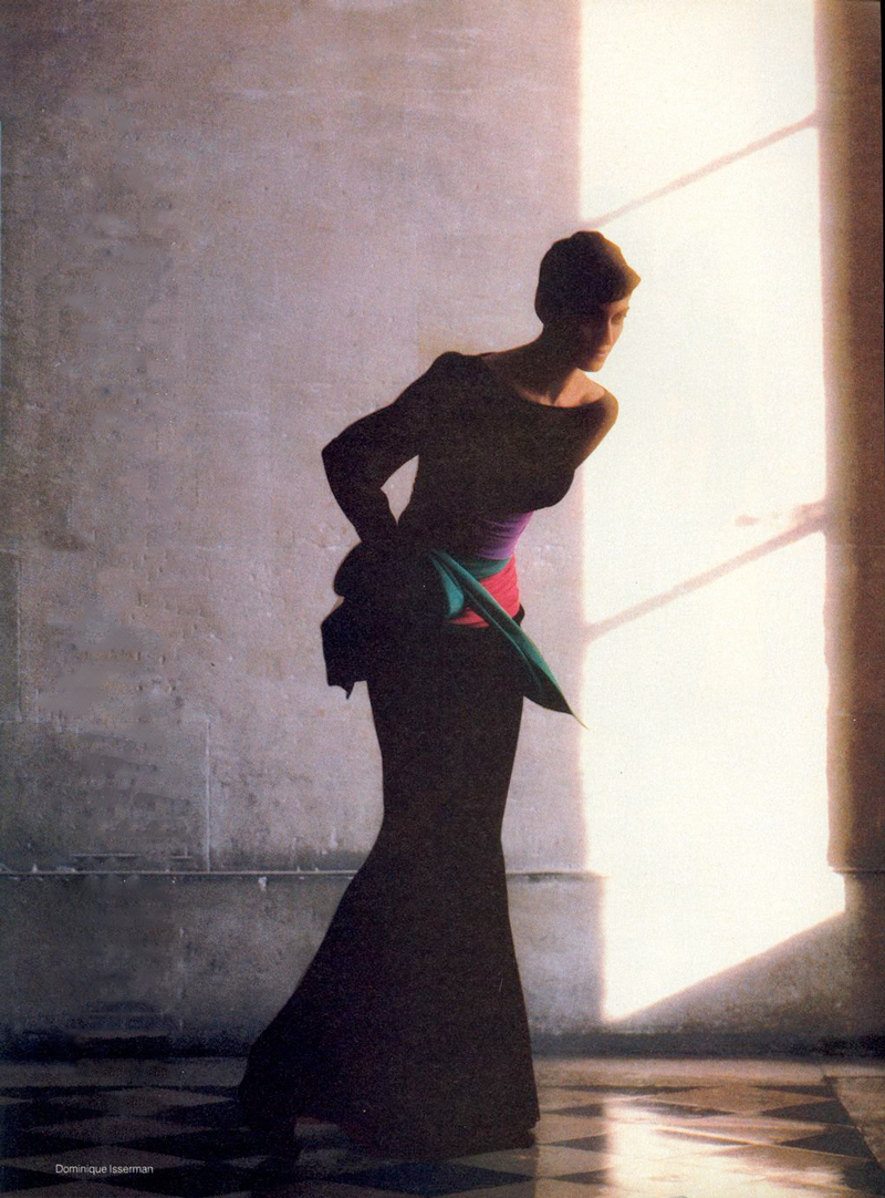 Yves Saint Laurent in Vogue US November 1984 (photography: Dominique Issermann) via www.fashionedbylove.co.uk