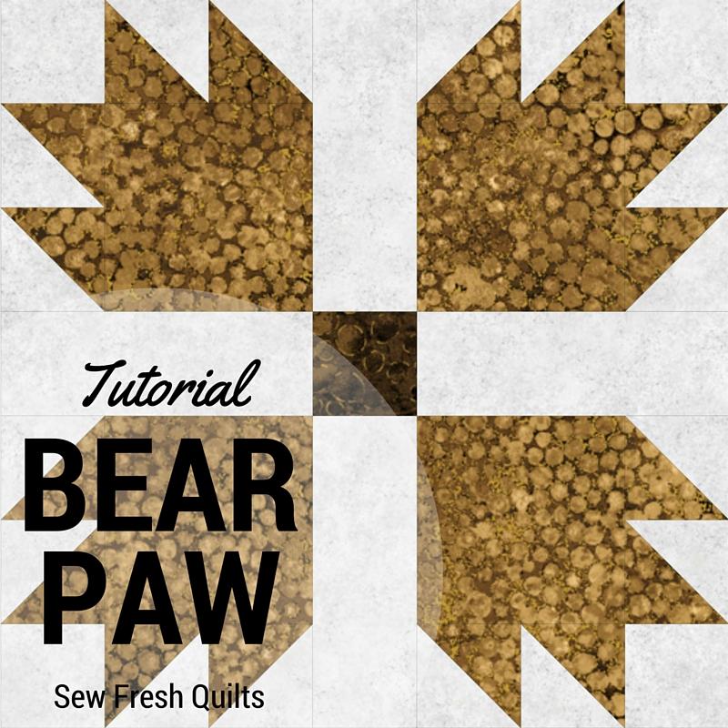Sew Fresh Quilts Bear Paw Block Tutorial