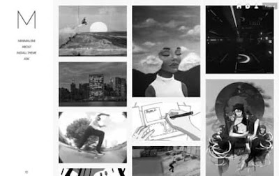 Minimalism - минималистичная тема для tumblr 2018