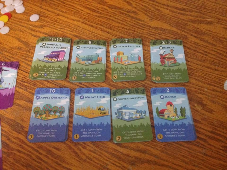 machi koro building location card selection