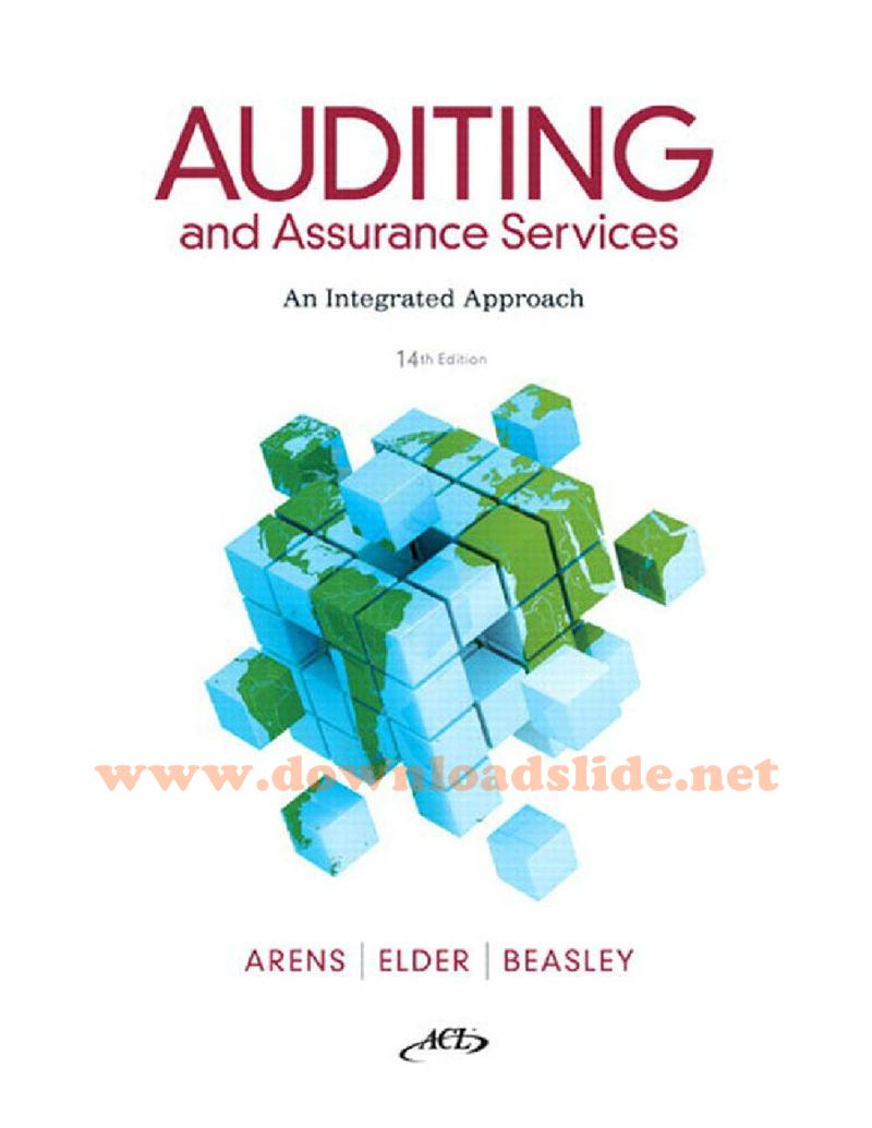 Solution Manual Auditing and Assurance Services 14th Edition by Arens,  Elder, Beasley