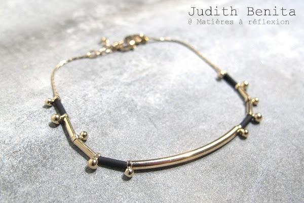 Soldes bijoux Judith Benita bracelet noir Spleen