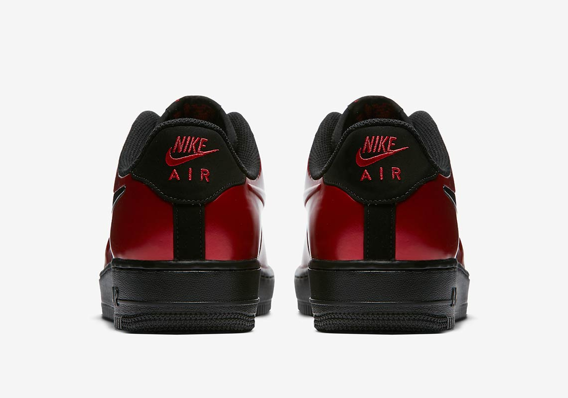 reputable site bc382 4626d The Nike Air Force 1 Low Foamposite CUP  Cough Drop  Red is available at  selected retailers.