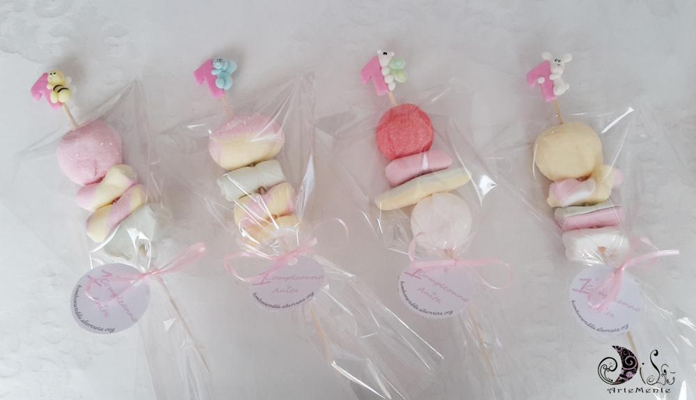 abbastanza DiLù Artemente: Spiedini di marshmallow primo compleanno FV65