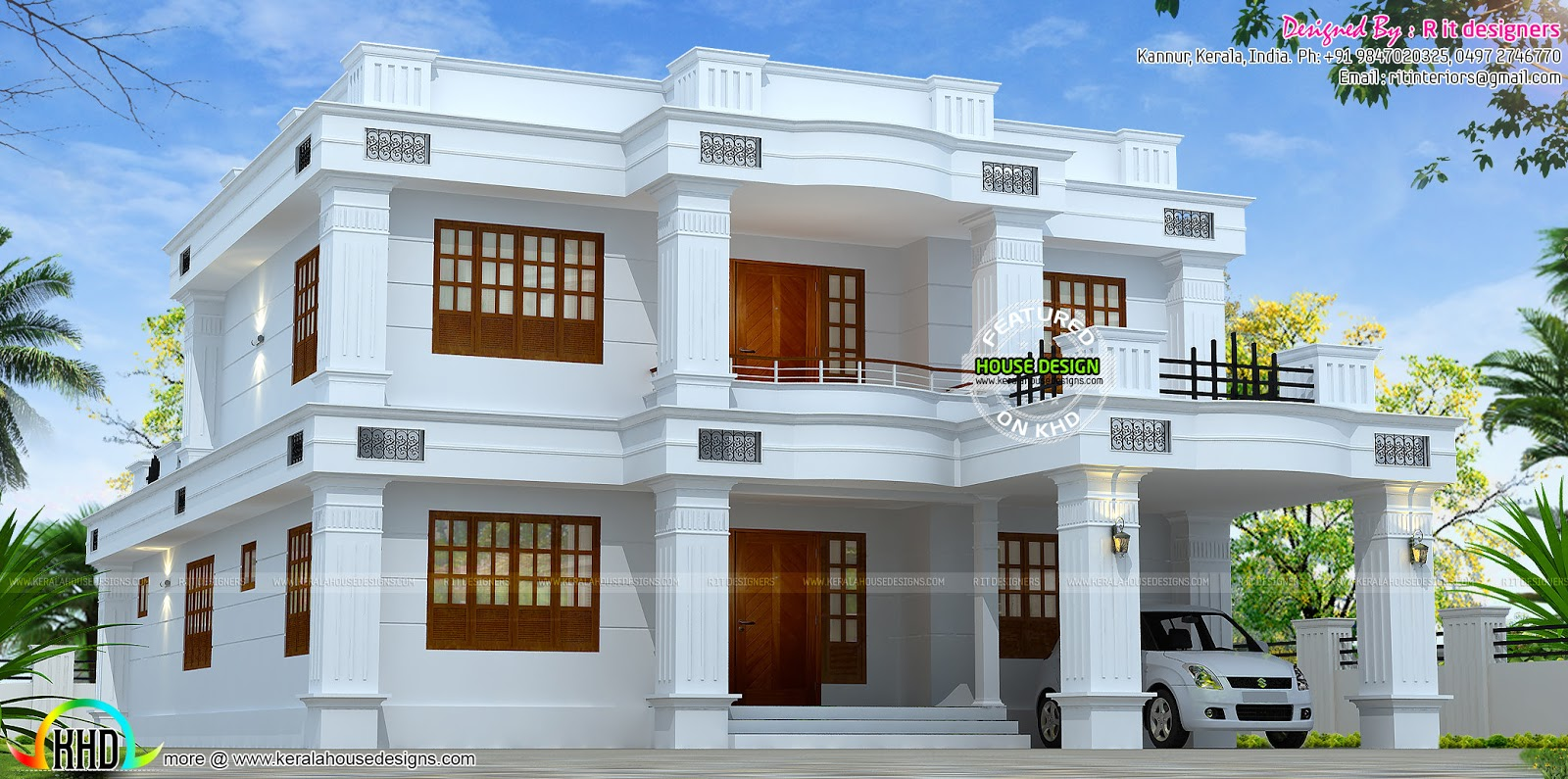 2785 sq ft 5 bedroom kerala home design - Home Design Images