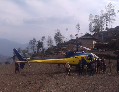 Heli tour in Halesi Khotang