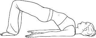 Image result for bridge posture yoga drawings