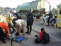 Posko Mudik PKS Lampung Tolong Korban Kecelakaan