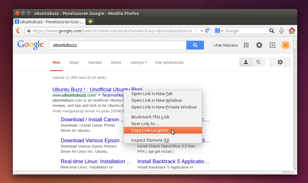 Direct Link Google in Chromium and Firefox
