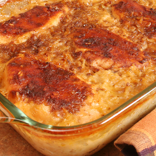 Onion Soup Chicken Rice Casserole