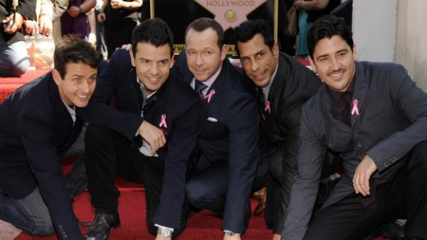 La formación New Kids On The Block con su estrella en Los Ángeles