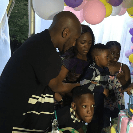 tuface idibia and pero adeniyi at daughter's birthday