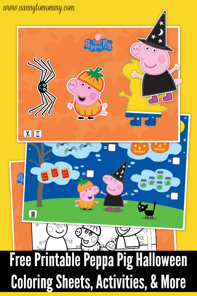 Have A Spooktacular Halloween With Peppa Pig {Free Printable Coloring Sheets,  Activities, & More} - Nanny To Mommy