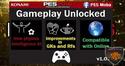 PES 2016 Gameplay Unlocked v1.03 (Very Hardcore AI) by Moba