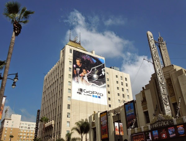 Giant GoPro guitar billboard Hollywood
