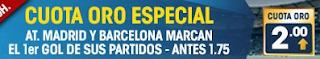 William Hill Cuota Oro Especial Atlético Madrid y Barcelona 19 enero