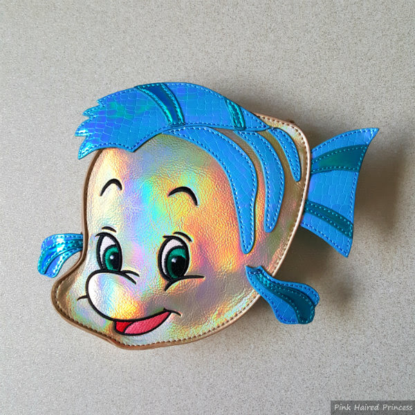 Danielle Nicole Disney Flounder Little Mermaid fish bag