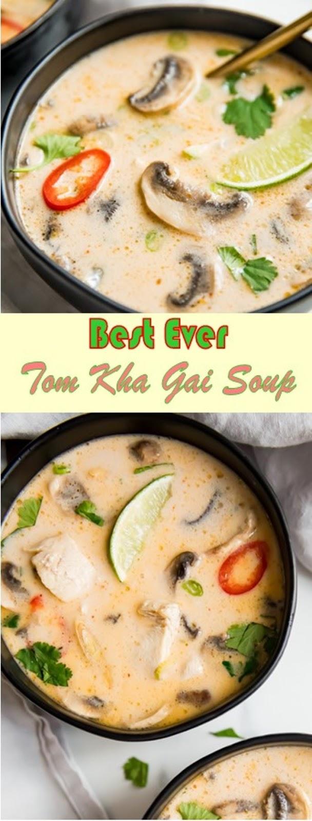 The Best Ever Tom Kha Gai Soup (Thai Coconut Chicken Soup, Whole30, Paleo)