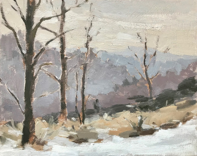 #307 'Hammer Vale in Winter' 8×10″