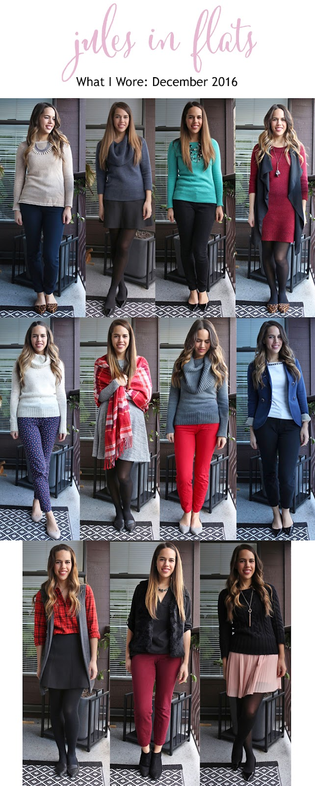 Jules in Flats - December 2016 Monthly Outfit Roundup