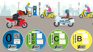 Etiquetas ambientales para moto - Fénix Directo Blog