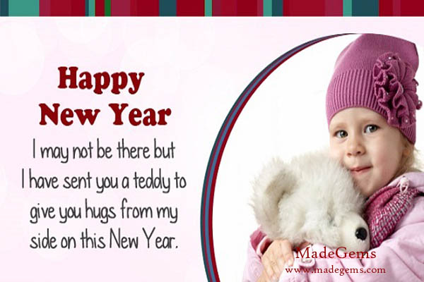 child new year greetings