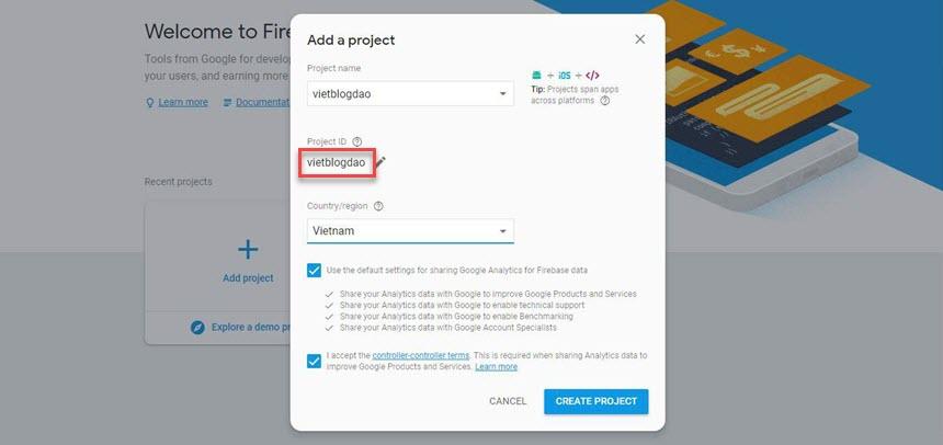 Hướng dẫn thêm lượt xem bài viết mới nhất 2018 sử dụng Google Firebase