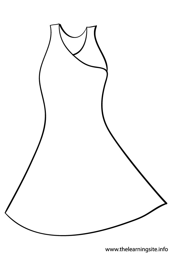 clothes coloring page - the learning site august 2012