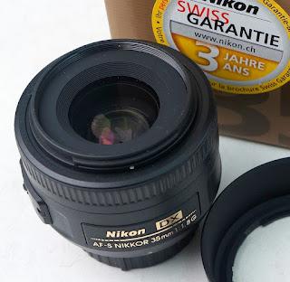 Lensa AF-S Nikon 35mm f1.8G bekas